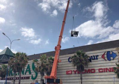 Sustitución de maquinaria de aire acondicionado en centro comercial