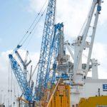 Trabajos de descarga para barco