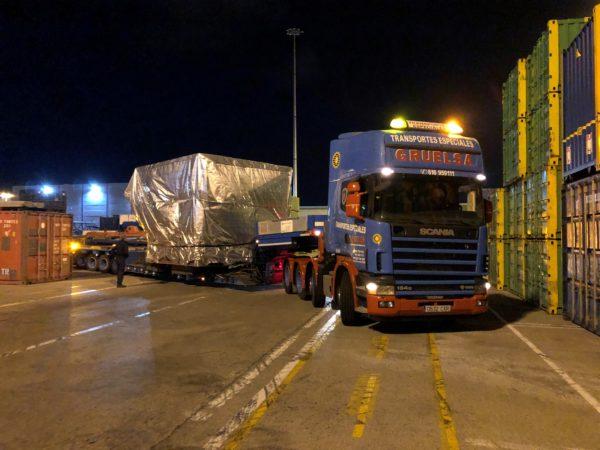 Transporte de maquinaria en Las Palmas